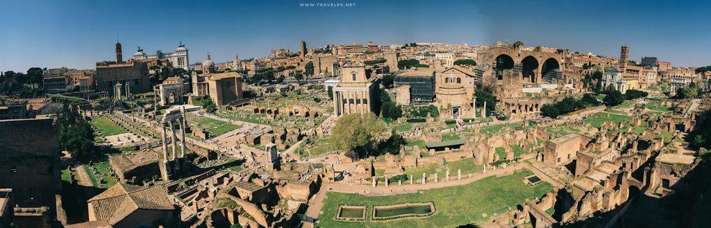 Toàn cảnh khu di tích Rome