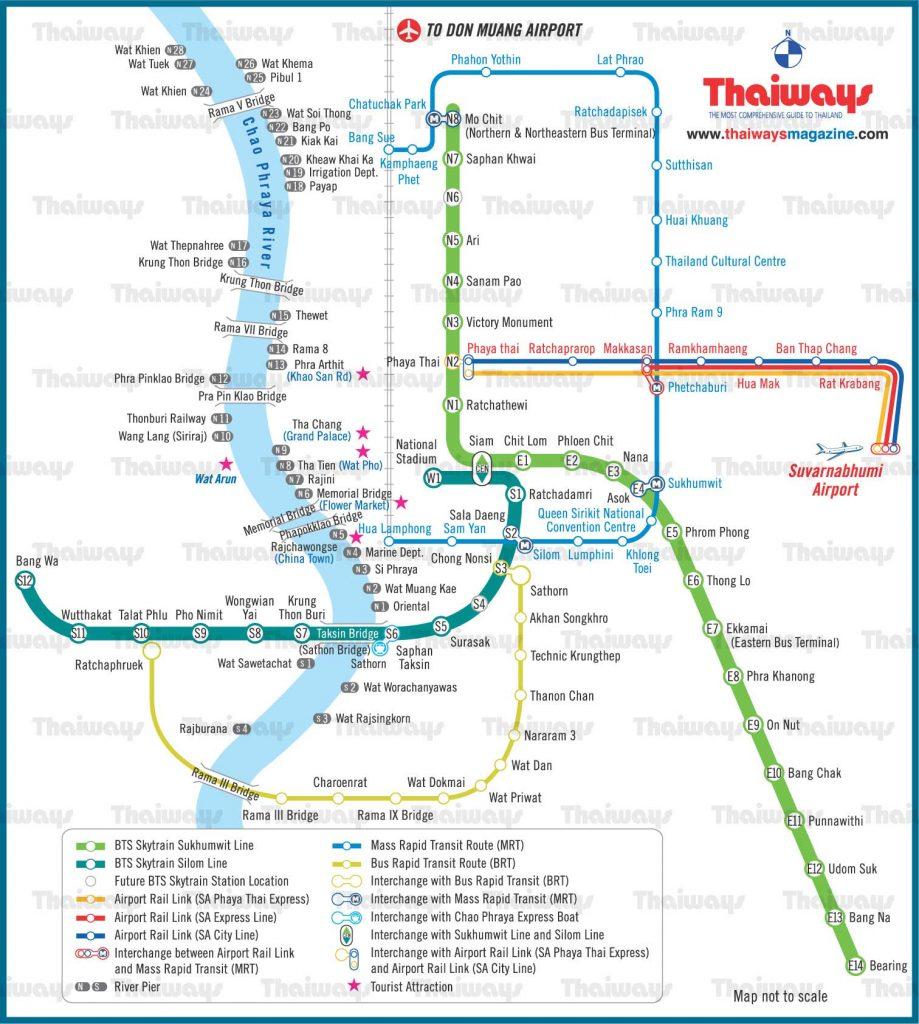 Bản đồ BTS ở Bangkok - travelpx.net