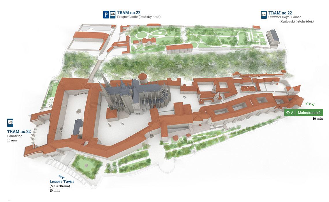 Bản đồ khu Castle Prague