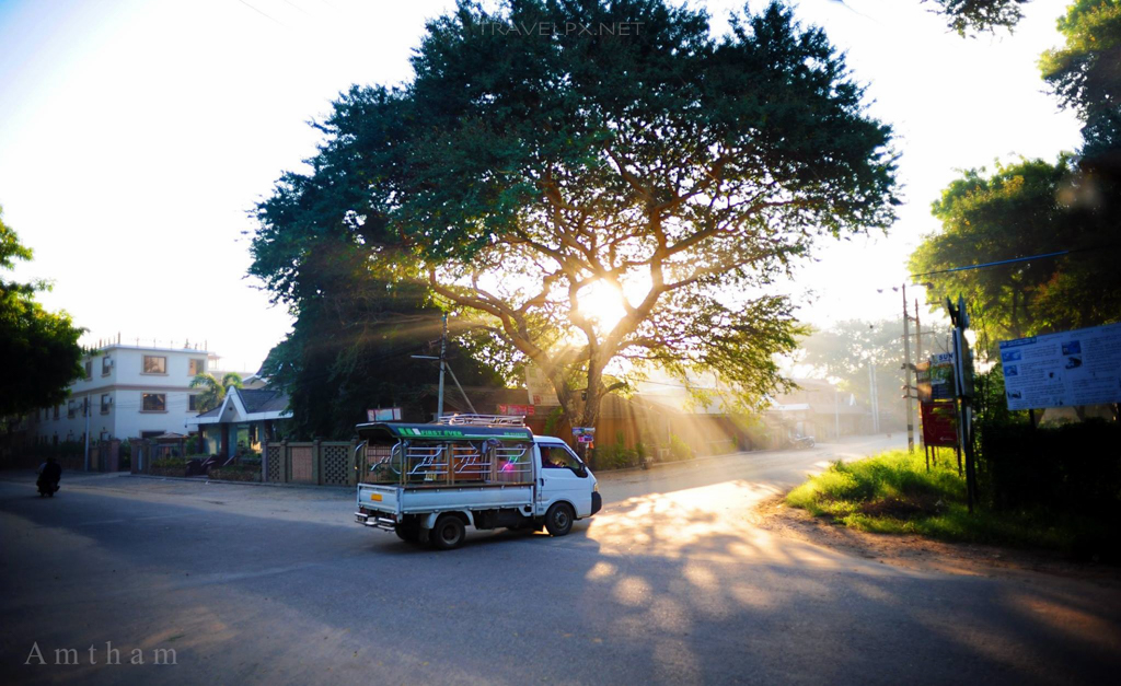 Sáng sớm ở Bagan