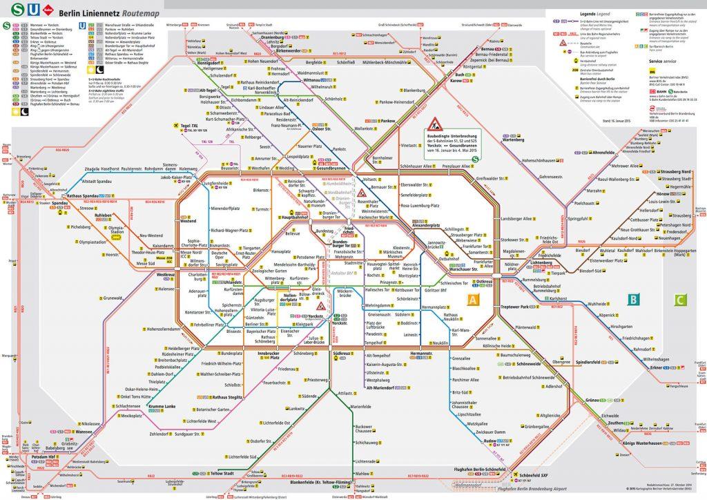 Bản đồ tàu điện Berlin