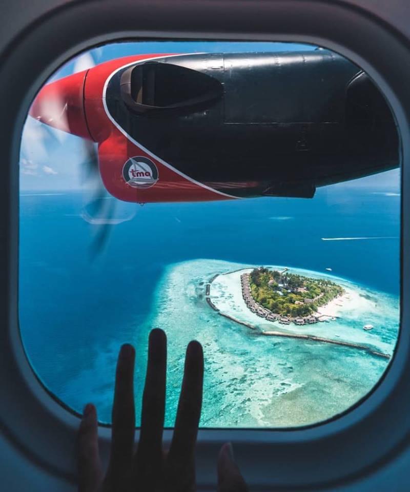 Seaplane du lich Maldives