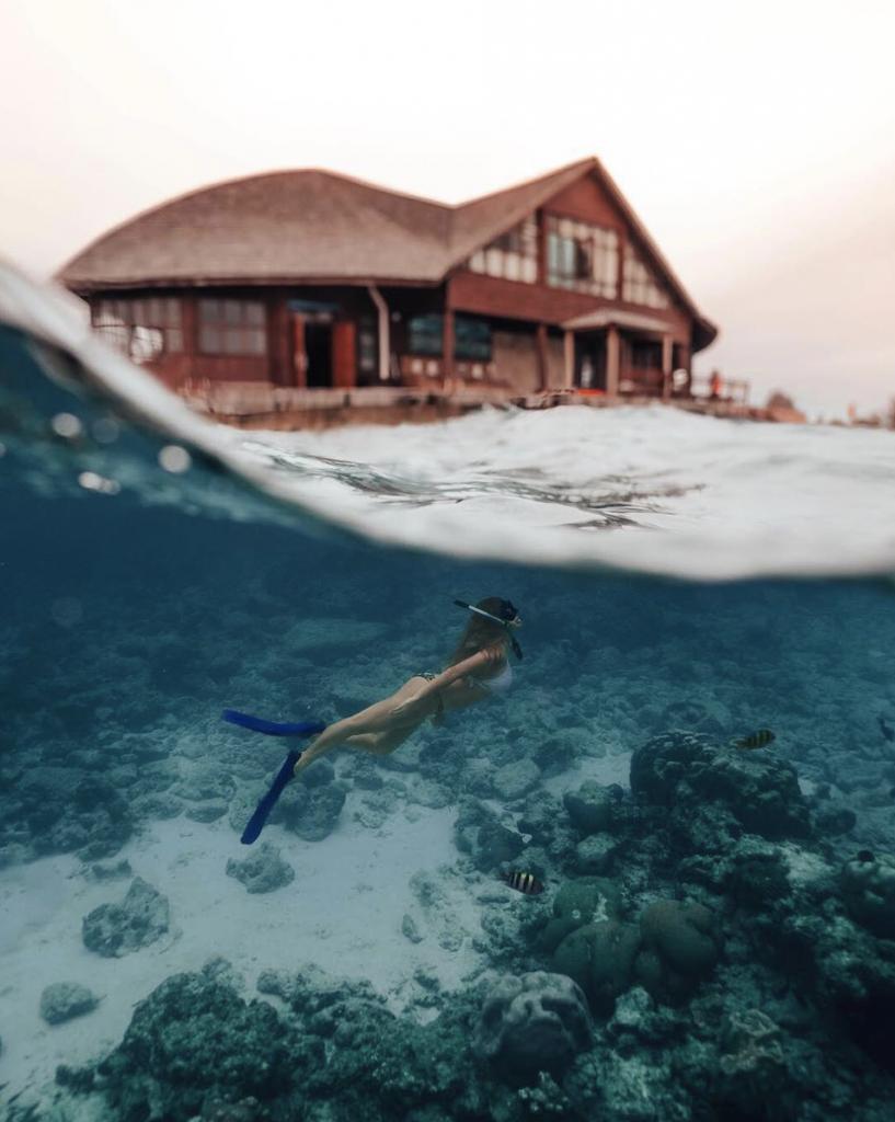 Lan bien Du lich Maldives